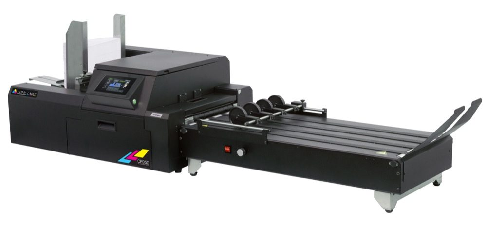 CP950 with conveyor for printed envelopes and packaging
