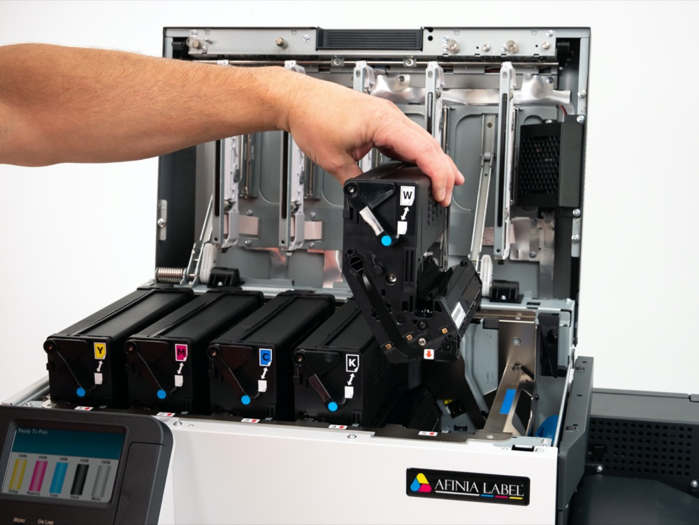 afinia label LT5C toner printer cartridge replace