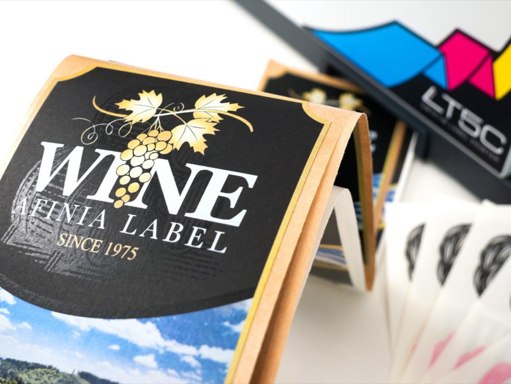 afinia label lt5c fanfold label printing white