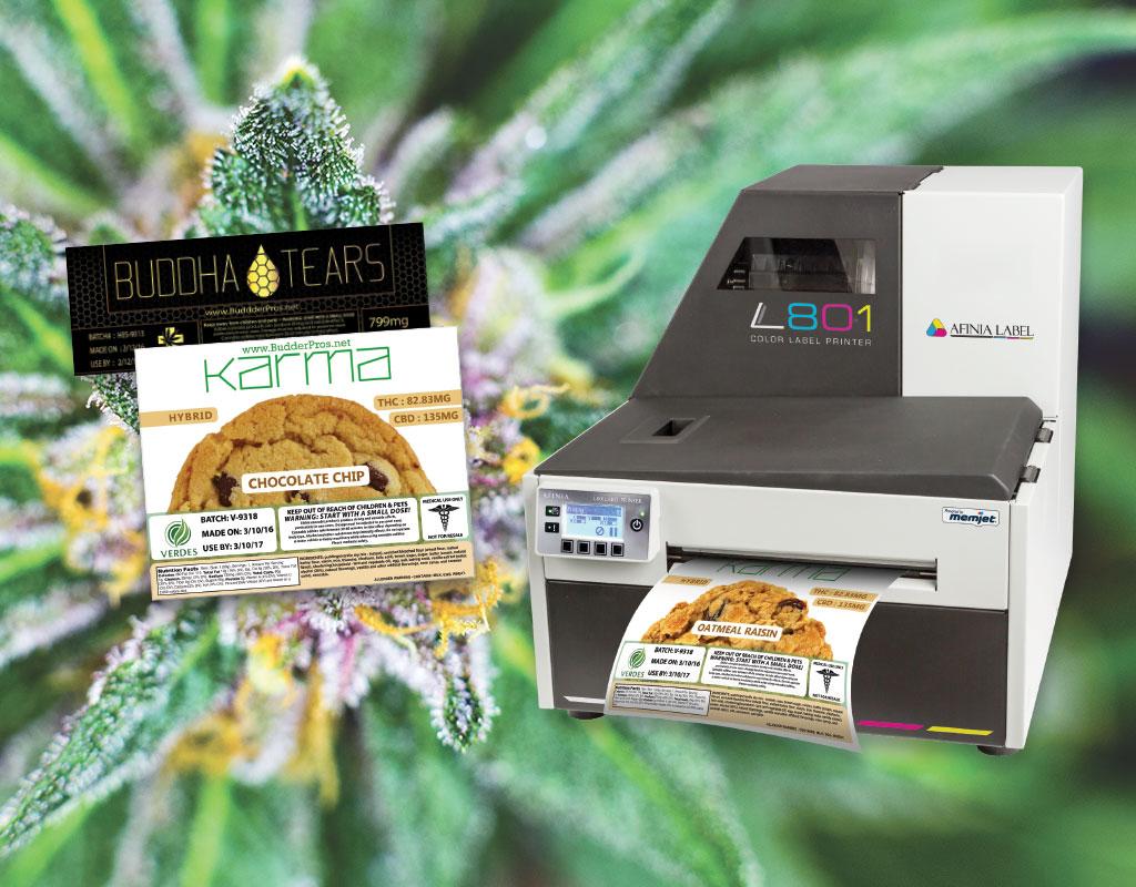 Cannabis label printing case study - Afinia Label marijuana label printers