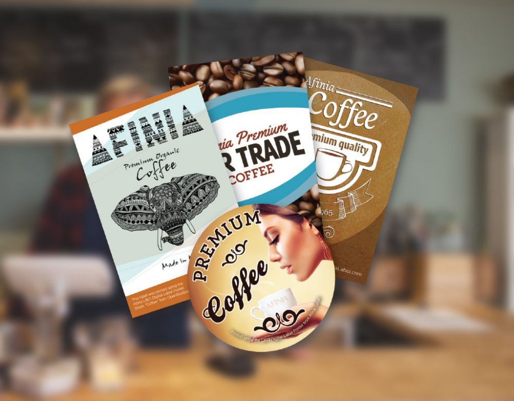 Coffee label printing case study from Afinia Label color label printers