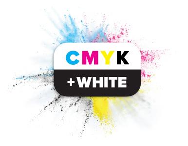 CMYK plus White